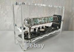 100% NEW handmade NIXIE TUBE CLOCK 12 / 24 hour display Ice tube clock Adafruit