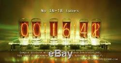 12V-No Tube-DIP-DIMMER-Pluggable-IN-18 6-Tube NIXIE Clock with enclosure