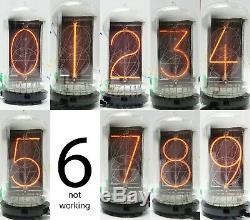 3 x RFT WF NOS Z5680M Z568M B-7037 NL-7037 Nixie Numeric Clock Display Tube