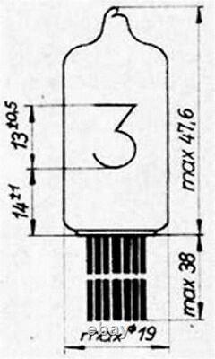 4PCs Z570M WF GERMAN NIXIE INDICATOR CLOCK TUBE USED TESTED 100% WORKING
