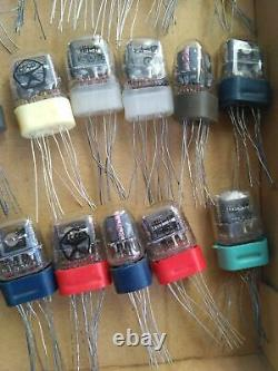 50x IN17 IN-17 -17 NIXIE TUBES MINIATURE NEW NOS NEU USSR CLOCK WATCH