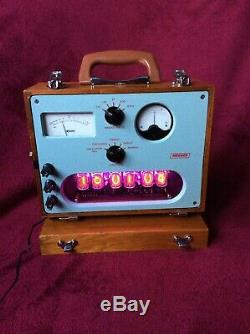 6 Tube Nixie Clock within Bridge Megger Testing set