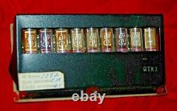 8 x IV-2 IV2 indicator VFD TUBES Nixie Clock set RAREST TUBES ALIEN DIGITS