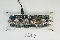 ALENA NIXIE IN-14 Tubes Desk Clock + Case + Power Supply + Remote + RGB + Effect