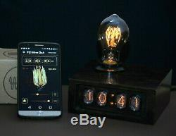 Android connected Edison Nixie Tube Clock Vintage Style Lamp Night Escape room