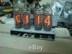 Assembled Nixie tube clock v2.3 IN-14 tube LED backlight, no case