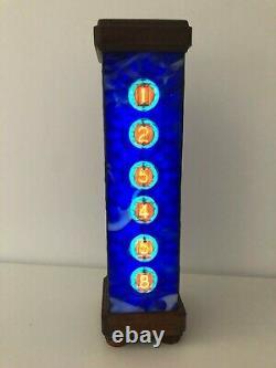 Blue London Nixie clock with Z560M tubes by Monjibox Nixie