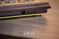 Bohemia Wood Retro Nixie Tube Clock IN-14 OAK (Cabernet) Orange LED