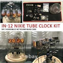 Classic Vintage IN-12 Nixie Tube Clock Round Glass Case / Assembled With DIY Kit