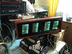 Clock Elektronika 7-06k Huge Ussr Soviet Wooden Wall Nixie Vfd Tube