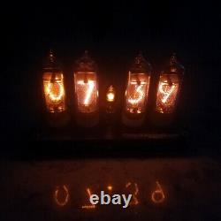 DIY KIT with NEW tubes Nixie Clock 4x IN-14+IN3 RGB Backlight Alarm All parts