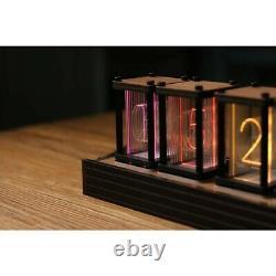 DIY RGB Simulation Glow Tube Clock LED Desktop Decoration Nixie Tube Clock #SZ