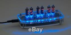 Electronic Clock With Digital Nixie Numitron Tubes Iv-9 (-9)