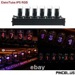 EleksTube IPS RGB Nixie Tube Clock Glow Tube Clock Dial Style Creative Nice Gift