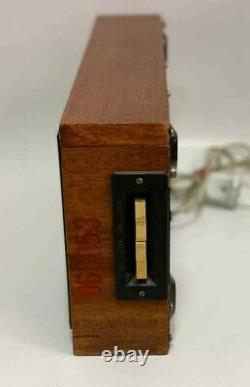 Elektronika 7 Soviet Vintage Digital Nixie Tube Wall Clock Wooden USSR