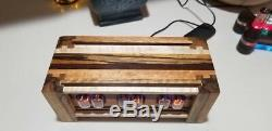 Exotic Wood Combo In 12 Nixie Tube Clock- Made to order wifi enabled