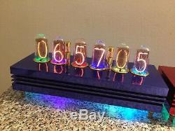Ferrari in BLUE Admiral Monjibox Nixie Clock large IN18 tubes WiFI NTP remote