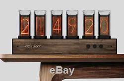 Gixie Clock / Nixie Tube Clock Black Walnut with Bluetooth Upgrade (FREE SHIP)