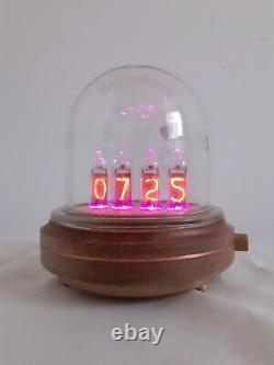 Glass dome IN14 tubes Nixie clock uhr by Monjibox Nixie