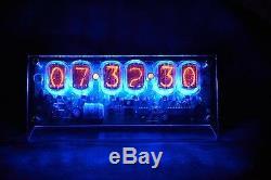 Hand Made IN-12 6 Tube Nixie Desk Clock Assembled Nixie Clock 120V 24HR Mode