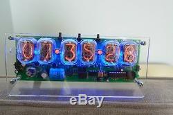 Hand Made IN-12 6 Tube Nixie Desk Clock Assembled Nixie Clock 120V AM/PM Mode