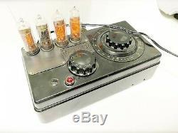 Handmade Unique Nixie clock on USSR Vintage tubes FM MP3