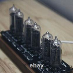 IN14 Glow Tube Clock Fluorescent Nixie Clock Display Time Date Temperature os12