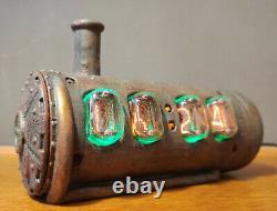 IN-12 NIXIE Tubes Steampunk Clock