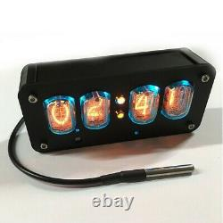 IN-12 Nixie Clock 4-Digit Nixie Tube Clock Time Date Temperature Auto Switching