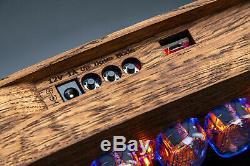 IN-12 Nixie Tubes Clock in Brushed Oak Vintage Wooden Case GRA&AFCH