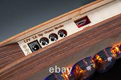 IN-12 Nixie Tubes Clock in a Clean Plywood Case Temperature F/C, Format 12/24H