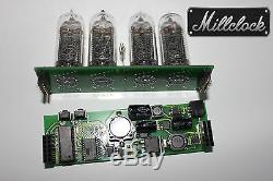 IN-14 NIXIE TUBE CLOCK ASSEMBLED WITH ADAPTER 4-tubes without enclosure retro