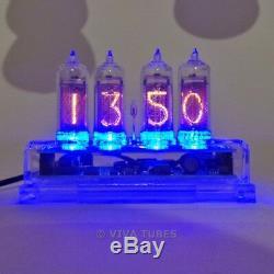 IN-14 Nixie Vacuum Tube Clock 4 Digit Clear Acrylic Enclosure