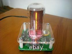 IN-18 Exclusive Single Digit NIXIE Clock+Acrylic enclosure RGB WITH TUBE