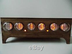 IN-1 NIXIE TUBE CLOCK VINTAGE Pulsar ASSEMBLED ADAPTER 6-tubes by RetroClock