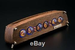 IN-4 Nixie Tubes Clock in Oak Vintage Wooden Case GRA&AFCH