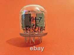 IN-7 IN7 -7 Nixie tube ussr vintage clock symbol n + m A V M NOS NEW 50pcs