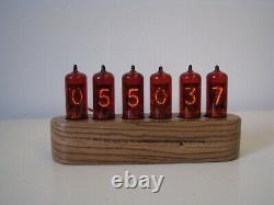 Jewel Series Monjibox Nixie Clock Z570M tubes Zebrano wood