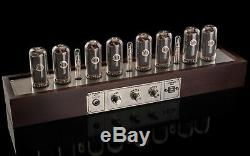 Large Wooden Case for 8 IN-18 Nixie Tubes Clock GRA & AFCH
