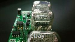 MOUNTED NIXIE CLOCK WITH 4 NH-12 and 2 NH-17 Tubes Vintage Retro