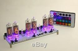 Maja RGB Nixie Clock IN-14 russian Six Digit Tubes Tube Clock with remote