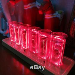 Modern Digital RGB LED Clock Colorful Home Décor Alarm Clock Nixie Tube Style