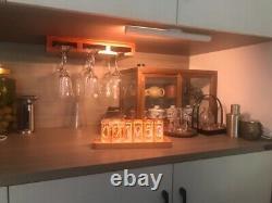 Modern Digital RGB LED Clock Home Décor Alarm Clock NO Vintage Nixie Tube Clock