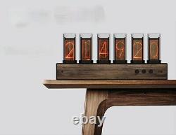 NIXIE CLOCK Table Tube Desk Pixels Large Display Ref Nixie Clock