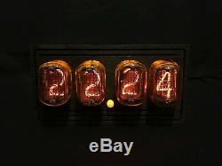 NIXIE TUBE Clock Vintage Pulsar IN-12 USB 4-tubes