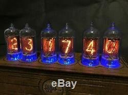 NIXIE TUBE Clock Vintage Pulsar z570m RGB assembled adapter 6-tubes