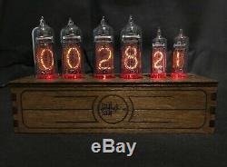 NIXIE Tube Clock Vintage Pulsar IN-14 + IN-16 RGB 6-tubes