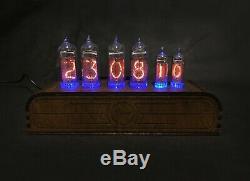 NIXIE Tube Clock Vintage Pulsar IN-14+IN-16 RGB 6-tubes