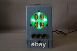 NIXIE Tube Steampunk Desktop Clock Vintage Retro Fallout Loft design Gift #102