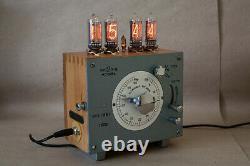 NIXIE Tube Steampunk Desktop Wallmount Clock Handmade Vintage Retro Fallout Gift